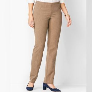 Talbots Refined Bi-Stretch Side-Zip Straight-Leg